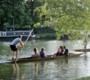 175 Students punting on the river Thames, Oxford
