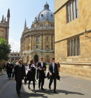 178 Students walking to their graduation ceremony, Oxford