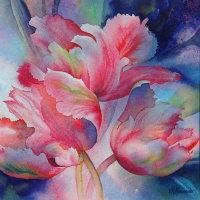 Windblown Tulips II