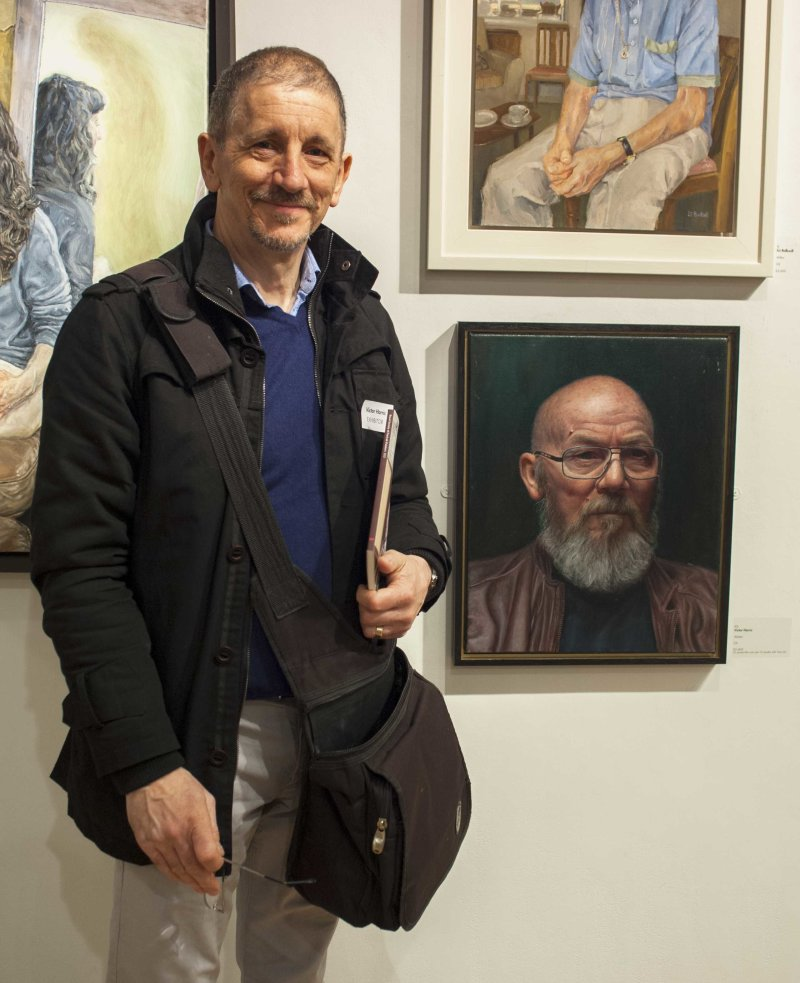 Royal Soc of Portrait Painters Exhibn with 'Alistair' at Mall Galleries London