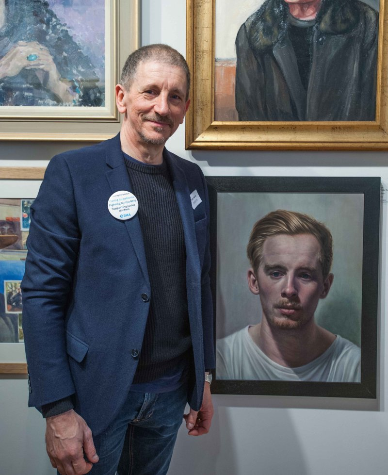 At the Royal Society of Portrait Painters exhibition May 2016