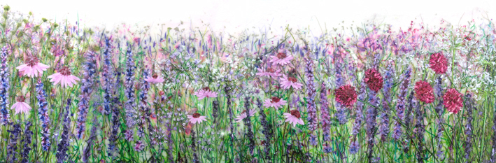 'Liz's Garden' Limited edition print, professionally mounted and framed, price £185