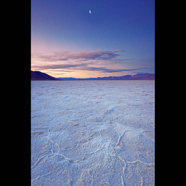Moon over Badwater