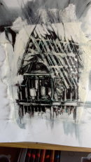 Mixed Media drawings - Plas Mawr, Conwy