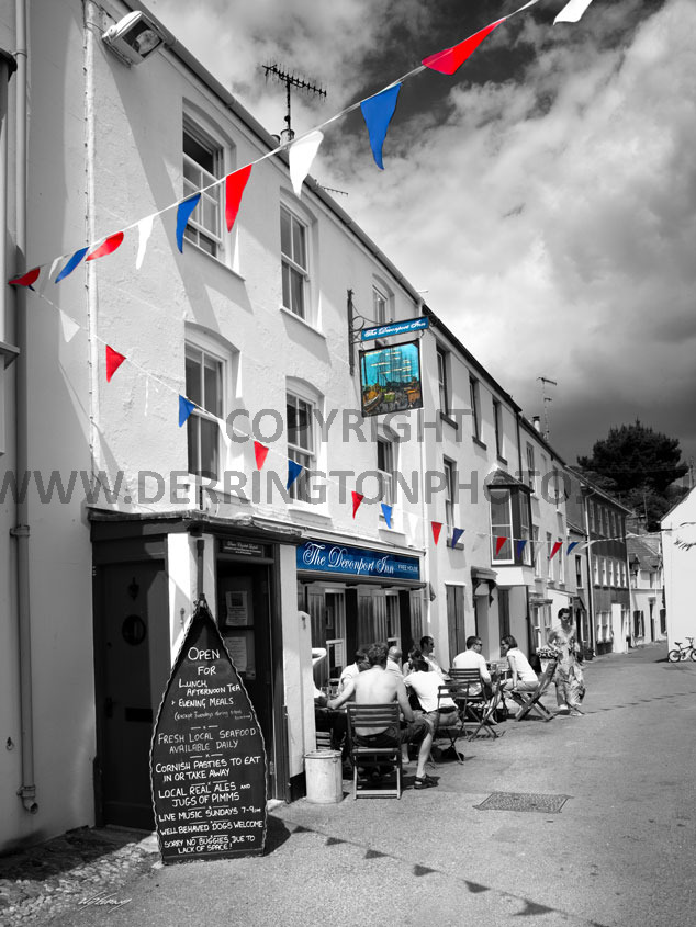 devonport inn kingsand bw