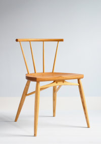 Bosbury side chair in ash with an elm seat designed by Koji Katsuragi