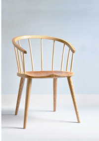 Coventry armchair in ash with an elm seat designed by Chris Eckersley
