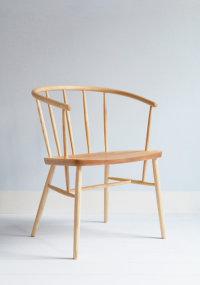 Eliza armchair in ash designed by Katie Walker