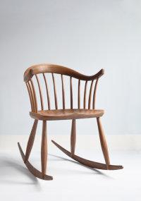 Leamington Rocker in walnut designed by Dave Green