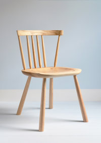 Pembroke side chair in ash designed by Sarah Kay