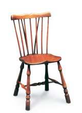 SF29  COMB BACK SIDECHAIR  As the Fanback is a variation on the Georgian chair, the Comb Back is a squared-off version of the Stickback.