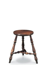 SF47 ISLE OF MAN STOOL  A very decorative three-legged stool (three legs will never rock, even on an uneven surface) which incorporates the Manx motif in the ingenious construction of its stretchers.