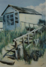 Beach Hut with Steps