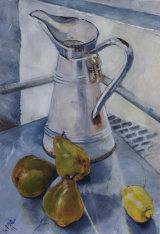French Jug with Pears and Lemon