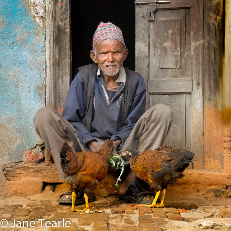 08 With His Chickens by Jane Tearle LRPS