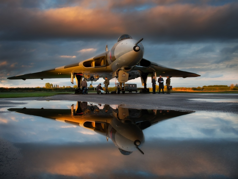 18 Vulcan Reflection by Valerie Duncan