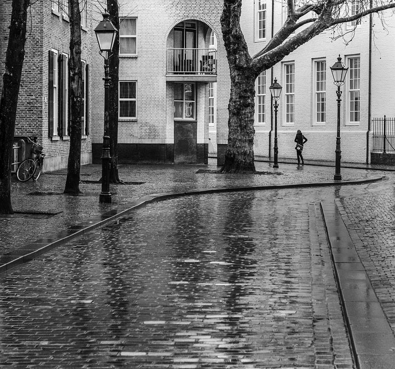 A Wet Day in Breda, Holland by Barbara Jenkins