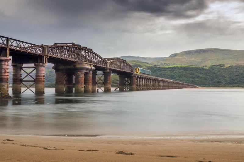 Barmouth Rail Bridge by Helen Lord