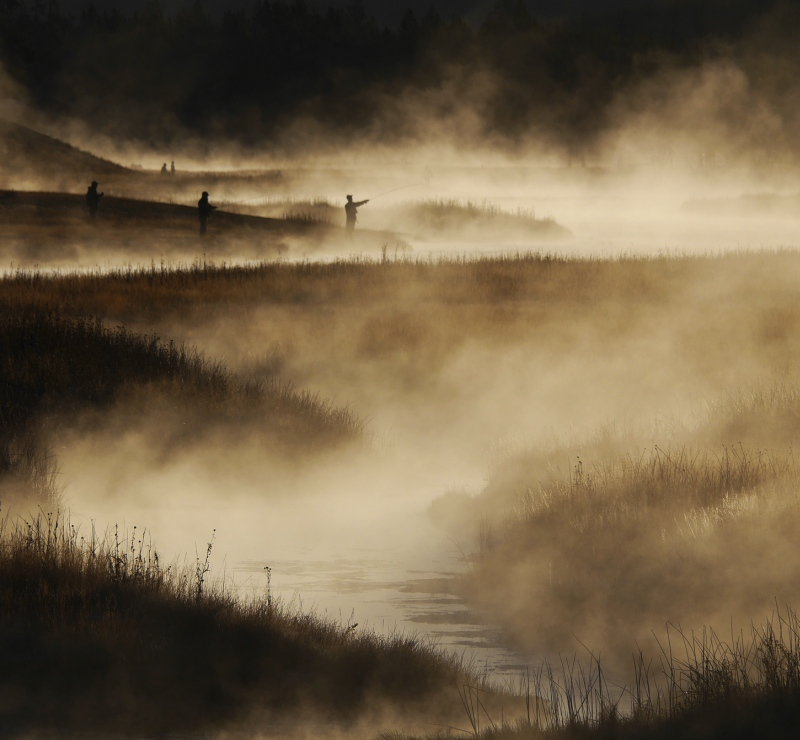Early Morning Madison River Yellowstone by Anthony Page