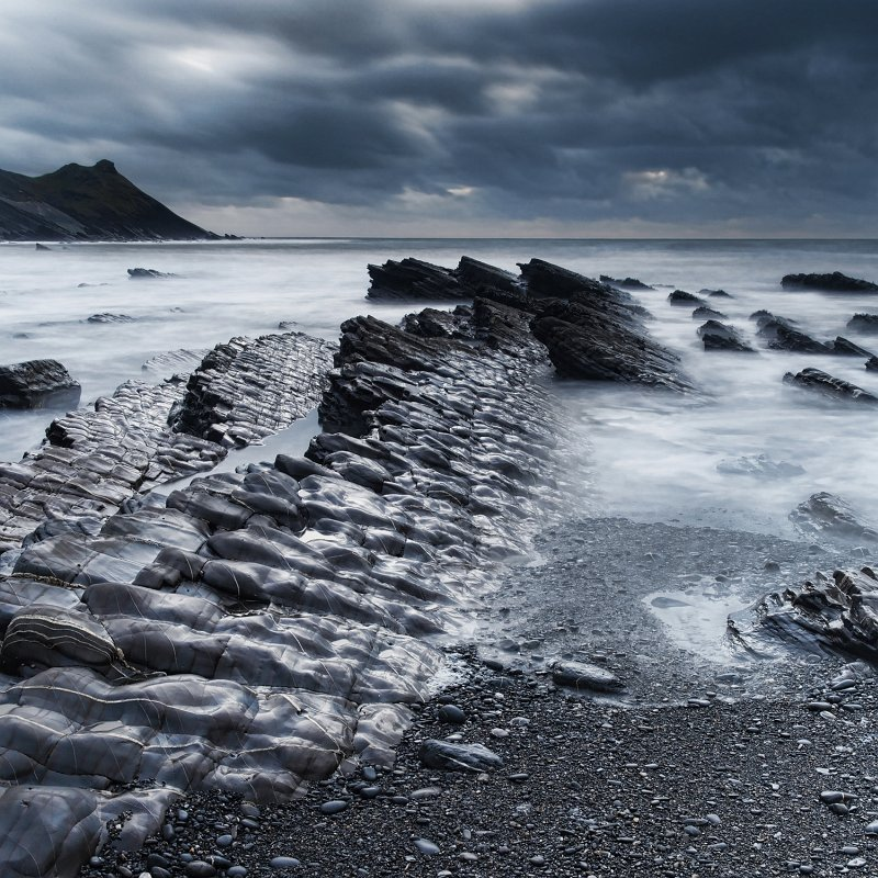 Ledges at Millook Bay by Stephen Lee