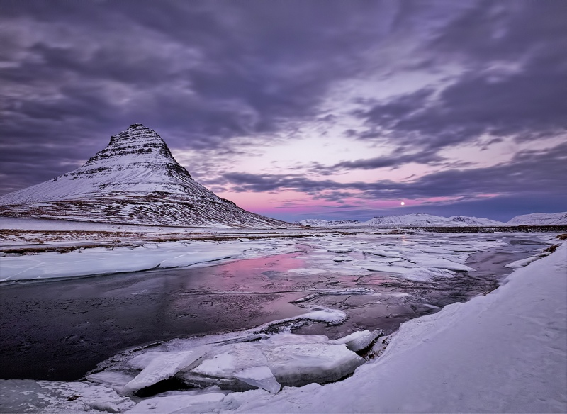 Moonrise over Kirkjufell by Jane Lee - 3rd Section A