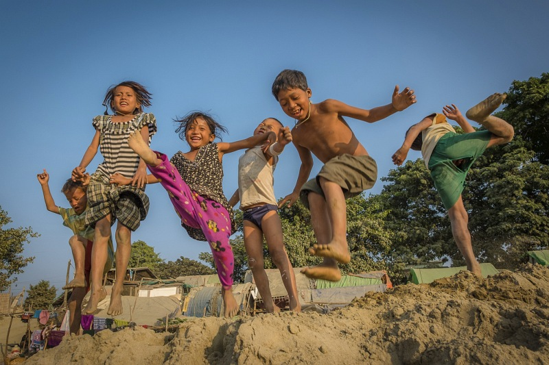 The River Children Myanmar by Jane Tearle