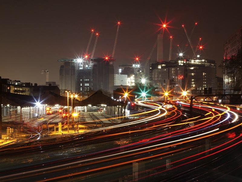 Train Trails London by Neil Crick