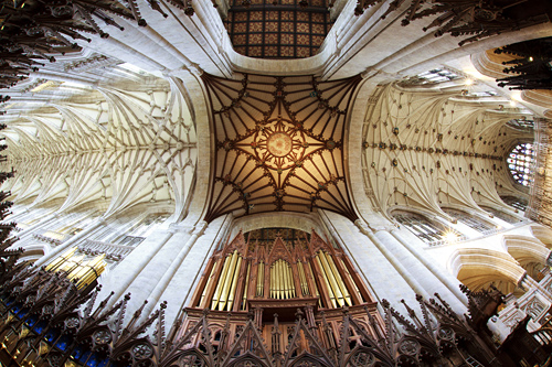 Winchester Cathedral Ceiling and Organ by David Cantrille