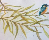 Brigham - Kingfisher on Willow Branch 38x22cm approx