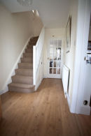 new 80/20 wool twist on the stairs dark oak lamiate and new torus skirting