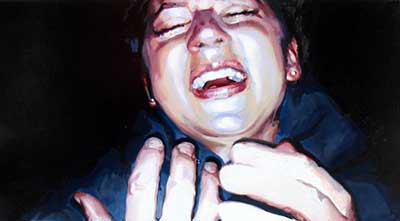 Figure 2. Oxymoron. 2010. enamel on canvas. 107 x 60 cm