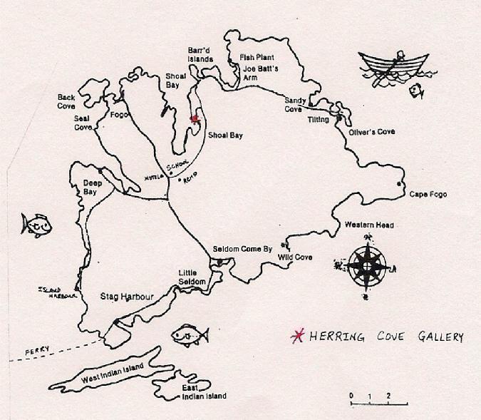 Fogo Island map