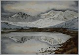 Snowdon Horseshoe and Llyn Mymbyr  500x340mm £45 inc mount and P&P
