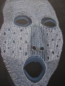 detail of 'Laced mask'