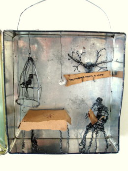 "WIRE SCULPTURES  ""the Little Worlds"" collection"