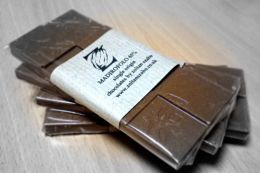 Zoltan's hand made Madirofolo & hazelnut praline chocolate bar