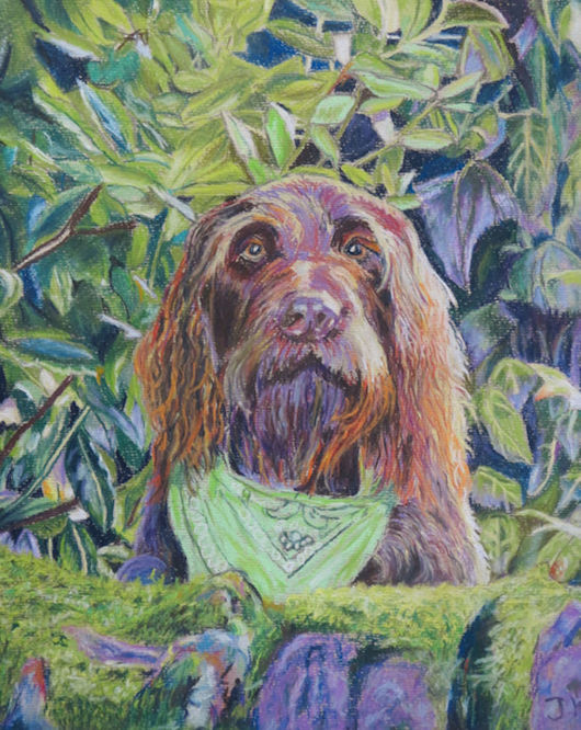 Pastel picture of dog