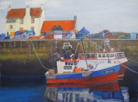 Fishing boats in the Gyle at  Pittenweem