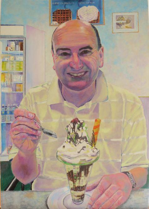Self-portrait with ice cream