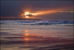 Eoropie sunset reflection