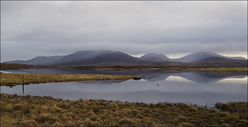 Beinn Mor in South Uist grey