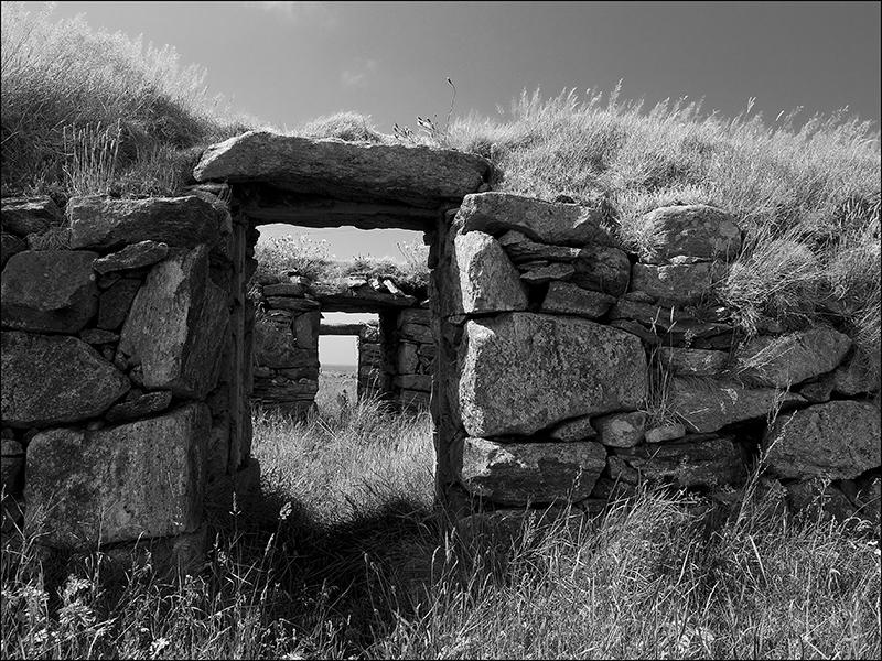 Blackhouse remains at Arnol