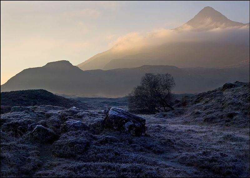 Cuillin from frosty Sligachan