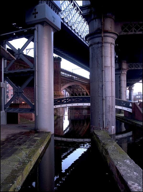 Four bridges in Manchester