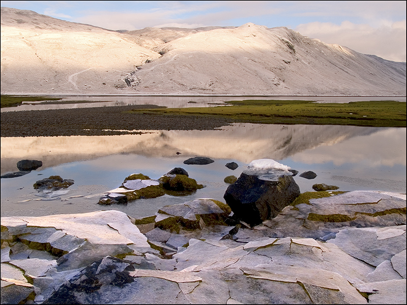 Frozen salt marsh. Skye