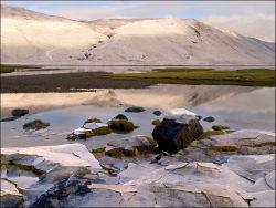 Frozen salt marsh. Skye