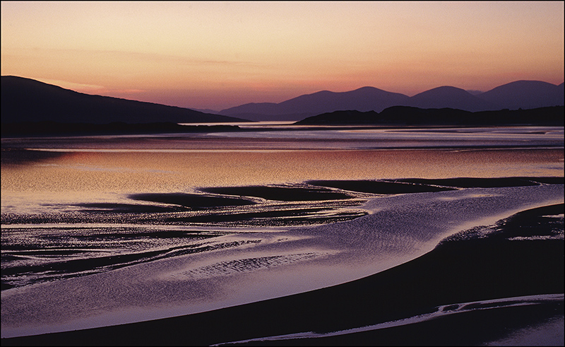 Harris sunset- midnight light over Taransay