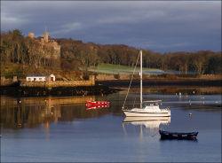 Lews castle and harbour