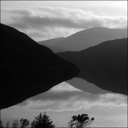 loch seaforth - black and white