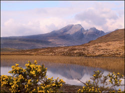 The Cuillins from the road to Elgol